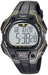 Timex T5K494SU Timex Ironman 50 Lap Gents Watch Quartz Digital Multicolour Dial Black Resin Strap