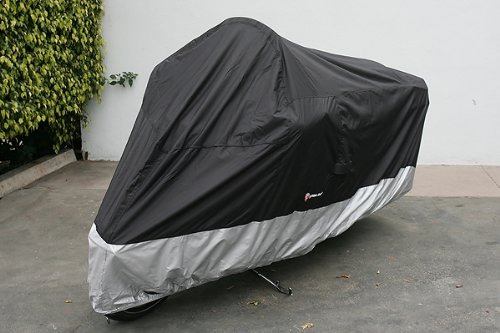 Light weight Motorcycle cover (XXL). Fits up to 108″ length Large cruiser, Tourer, Chopper.