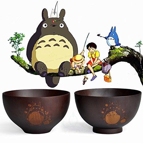 Amariver Nature Acid jujube wood matte bowl My Neighbor Totoro Japanese children bowl (1)
