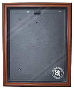 MLB San Diego Padres Cabinet Style Jersey Display, Brown by Caseworks