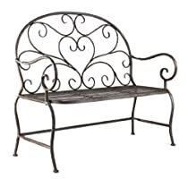 Big Sale ZENTIQUE HR10872 Rustic Metal Bench