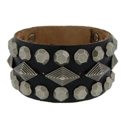 Genuine Leather Gladiator Black Vintage Bracelet
