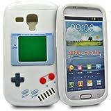Accessory Master Housse en silicone pour Samsung Galaxy S3 Mini I8190 Motif Game Boy Blanc