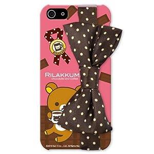 リラックマ リボン付 iPhone5ケース ブラウン/ハードタイプ