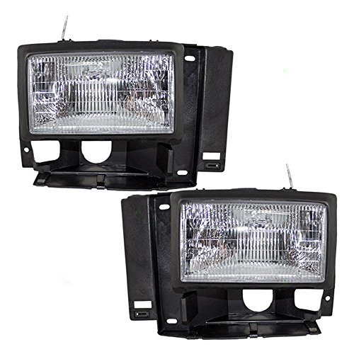 Driver and Passenger Headlights Headlamps Replacement for Ford Bronco II Explorer Ranger Pickup F1TZ13008D F1TZ13008C (Headlight Assembly Bronco compare prices)