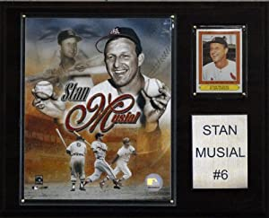 MLB Stan Musial St. Louis Cardinals Player Plaque by C&I Collectables