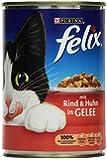 Felix Katzenfutter Rind und Huhn in Gelee, 24 Dosen (24 x 400 g)