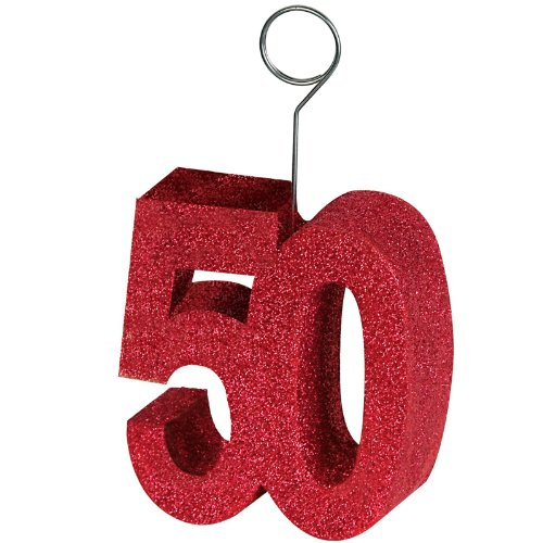 "Beistle 50751-50 Glittered ""50"" Photo Balloon Holder"
