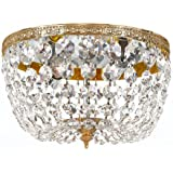 710-OB-CL-MWP Richmond 2LT Flush Mount, Olde Brass Finish with Clear Hand Cut Crystal