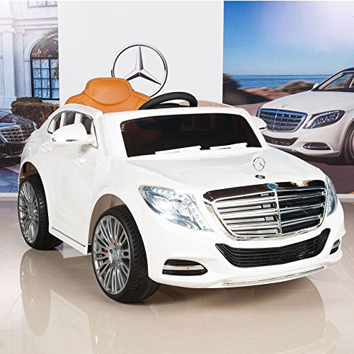 mercedes benz s600 12v kids ride on battery powered wheels car rc remote white little kid cars