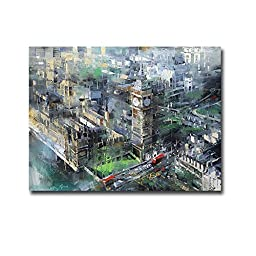 London Green - Big Ben by Mark Lague Premium Gallery-Wrapped Canvas Giclee Art (Ready-to-Hang)