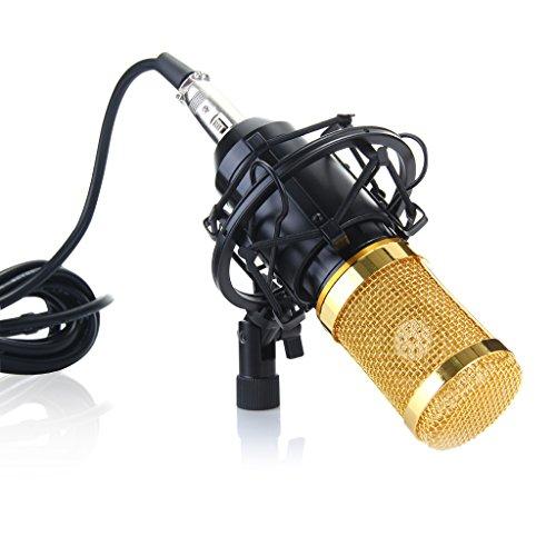 Excelvan BM-800 Condenser Microphone Sound Recording Dynamic + Mic Shock Mount (Voice Condenser compare prices)