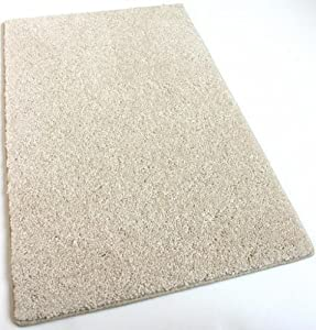"7'X7' SQUARE Cream Area Rug Carpet. MULTIPLE SIZES, SHAPES and rich Cream tone. Soft and Plush 25 oz. StainMaster. Long wear soft nylon fiber. Medium Density. Thickness: 1/2"" Home area rugs, runner, rectangle, square, oval and round."