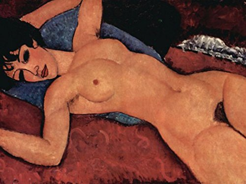 Amedeo Modigliani Poster Adhesive Photo Wallpaper - Reclining Nude, 1917, 2-Parts (95 x 71 inches)