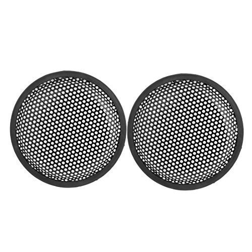 sourcingmapr-66-dia-metal-mesh-round-car-woofer-cover-speaker-grill-black-2-pcs