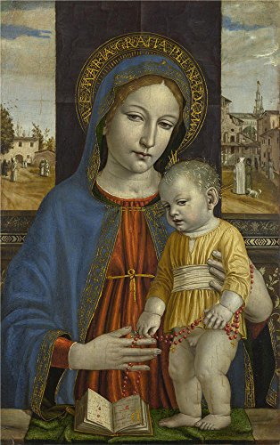 The High Quality Polyster Canvas Of Oil Painting 'Ambrogio Bergognone The Virgin And Child ' ,size: 30 X 48 Inch / 76 X 121 Cm ,this High Resolution Art Decorative Prints On Canvas Is Fit For Home Office Gallery Art And Home Decor And Gifts