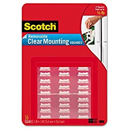 Mounting Squares, Precut, Removable, 11/16\