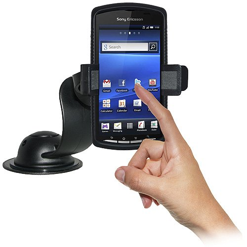 Amzer AMZ95124 Car Mount and Case System for Sony Ericsson Xperia Play, Sony Ericsson Xperia Play 4G - Retail Packaging - Black
