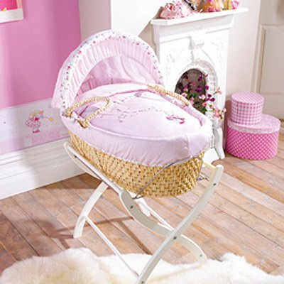 Izziwotnot Humphrey's Corner Lottie Fairy Princess Maize Moses Basket
