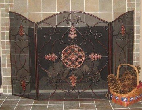 Intelligent Design Old World Iron Scroll Fireplace