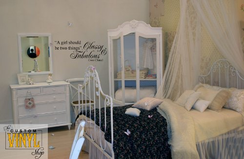 Coco Chanel Quote - Girls Should Be Classy and Fabulous - Kids / Nursery Vinyl Wall Art Decal Sticker Decor