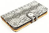 送料無料 Galaxy S6 edge SC-04G/SCV31 蛇 ダイヤモンドパイソン柄 レザーウォレットタイプ ケースカバー