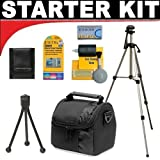 Deluxe DB ROTH Accessory STARTER KIT For The Canon Powershot SX500, SX260 HS, SX240 HS, D20 Digital Cameras
