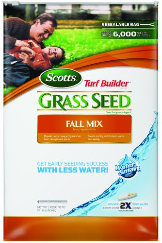 Scotts 18190 Turf Builder Fall Grass Seed Mix, 15-Pound