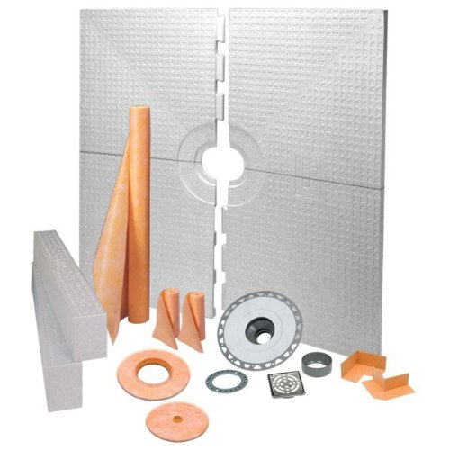 Best Price! Schluter Kerdi 72-Inch x 72-Inch PVC Shower Kit with Stainless Steel Drain
