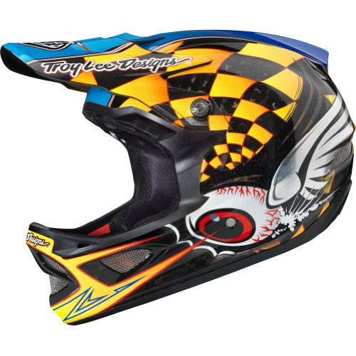 Troy Lee Designs Finishline CF D3 Carbon Bike Race BMX Helmet - Yellow