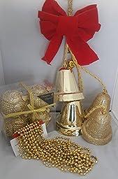 Christmas Tree Bundle ,Golden Ball, Golden Bells , Golden Beads