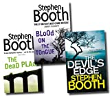 Stephen Booth Stephen Booth Collection Detective Constable Ben Cooper 3 Books Set (The Dead Place, Blood on the Tongue, The Devil's Edge)