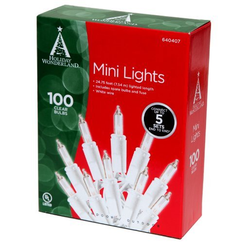 Box of 100 C9 Multicolor Triple Dipped Transparent Indoor//Outdoor Christmas Bulb