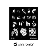 Winstonia Nail Art Stamping Image Plate Series 1 Rainforest