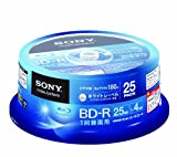 SONY ビデオ用BD-R 1回録画用 片面1層25GB 4倍速 ホワイトプリンタブル 25枚スピンドル 25BNR1VGPP4