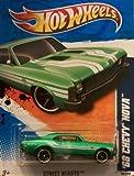 2011 Hot Wheels 68 Chevy Nova Street Beasts 2 Of 10, #82 Green By Hot Wheels