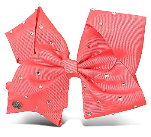 JoJo Siwa Signature Collection HAIR BOW Coral w/Rhinestones