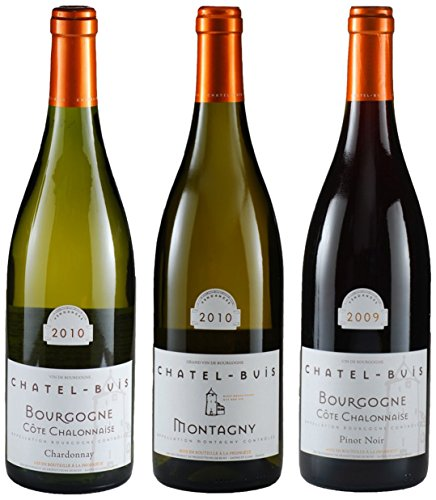 "Chatel-Buis ""Burgundy Collection"" Pinot Noir, Chardonnay Mixed Pack, 3 X 750 Ml"