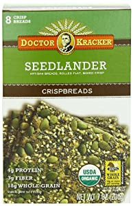 Doctor Kracker Seedlander Organic Crispbreads, 7-Ounce Boxes (Pack of 6)