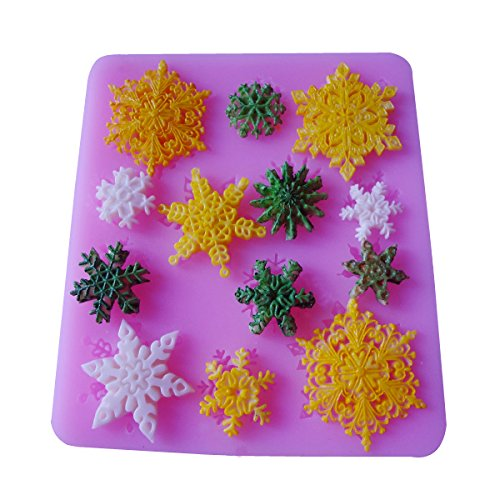 Funny Kitchen Baking Mold Tools Mini Christmas Snowflake Shaped Cake Decorating Mold Chocolate Candy Making Mold Tools
