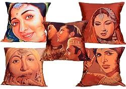 meSleep Digitally Printed 5 Piece Cushion Cover Set - Multicolor (16CDBAS-106-05)