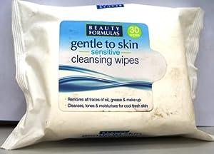 Beauty Formulas Sensitive Cleansing Wipes - 30 Sachets