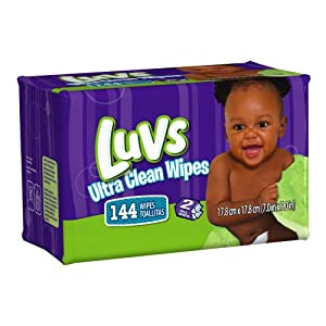 Luvs Ultra Clean Wipes 2x Refills 144 Count (Pack of 8)