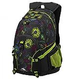High Sierra School Backpack Lyell, 25 Liters, Flower Stitch/ Mercury/ Chartreuse 60203 0889