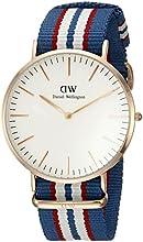 Comprar Daniel Wellington 0113DW Reloj Analógico, de Cuarzo, para Hombre, con Correa de Nylon, Multicolor