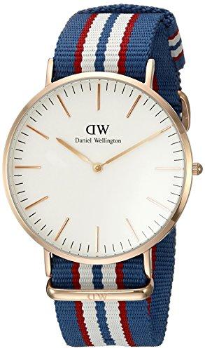 Daniel Wellington 0113DW Reloj Analógico, de Cuarzo, para Hombre, con Correa de Nylon, Multicolor