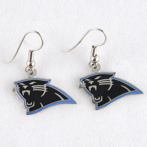 NFL Carolina Panthers Earrings Jewelry Card
