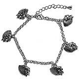 LILI LA TIGRESSE Bijoux Fantaisie Bracelet L18cm+extension Métal argenté Tête de mort