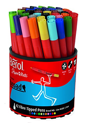 berol-colour-broad-fibre-tipped-pen-assorted-colours-pack-of-42