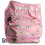 "LittleBloom, Reusable Pocket Cloth Nappy, Fastener: Popper, Set of 1, Pattern 10, Without Insert, (see ""Special Offers and Product Promotions"" for Special Offers Detail)"